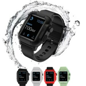For Apple Watch Ultraresistent Silicone Band Case Series 6 se 5 4 3 2 Waterproof Sports 44mm 42mm 40mm Strap Shockproof Frame transparent 2