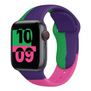 For Apple Watch band 44mm 40mm for iwatch Bracelet series 6 se 5 4 3 2 1 42mm 38mm correa pulseira watchband silicone loop 4