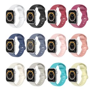 For Apple Watch case cover 6 5 4 3 band 38mm 42mm for iWatch 4 band 44 40mm Sport Silicone belt Bracelet Strap